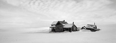Abandoned Farmhouse, Washington (austin granger) Tags: abandoned farmhouse washington palouse time decay impermanence snow winter cold stark bleak minimal empty field farmer topography mind correspondence evidence film xpan desolation