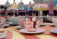 Mad Tea Party teacups, 1962 (Tom Simpson) Tags: disney disneyland vintage vintagedisney vintagedisneyland 1962 1960s madteaparty teacup fantasyland