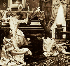 Ladies Of the Night (Midnight Believer) Tags: ladies women piano prostitutes prostitution brothel bordello retro 1890s 19thcentury victorian parlor