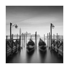  * gondolas *  (Nick green2012) Tags: square blackandwhite gondolas lamps venice long exposure
