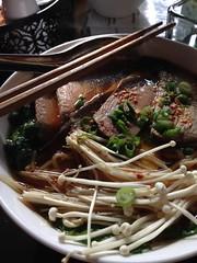 Ramen Noodle Bowl (square one studio) Tags: buffalo pork chopsticks upstatenewyork ramennoodles enoki kaydara