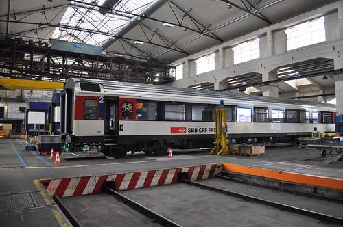 SBB EW IV im Industriewerk Yverdon