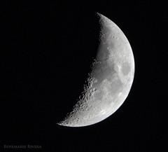 DSC_0784 (Miss_Rosemarie) Tags: sky moon luna astrophotography lunar crescentmoon 600mm d5300