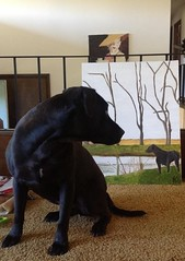 Gunner and his painting