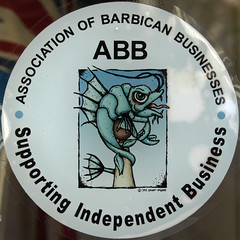 Shop window sticker (chrisinplymouth) Tags: squircle round circle squaredcircle cw69x abb barbican business plymouth devon england uk sticker sign plymgrp