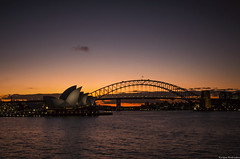 Opera House (kaiqueandrades) Tags: sunset sydney operahouse habourbridge