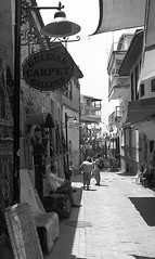 Old Town (bamosreed) Tags: old bw white black turkey carpet town antalya rug