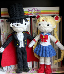 Tuxedo Mask and Sailor Moon Crochet Dolls (xMangoRose) Tags: mars moon anime love set toy couple doll pretty pattern venus mask princess crystal mercury cosplay handmade crochet prince scout plush tuxedo chiba sailor jupiter amigurumi sailormoon guardian usagi kamen endymion mamoru senshi crochetdoll amigurumidoll ilovecrochet xmangorose