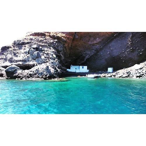When in Santorini Island #rentaboat #ribcruises #summeringreece #greekislands #sun #hot #boat