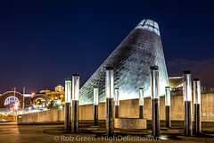 Museum-of-Glass-Night-7-23-2015 (Rob Green - SmokingPit.com) Tags: city bridge blue sky panorama art water glass museum night sailboat speed marina reflections dark way boats lights pier town washington thea downtown cityscape slow pacific northwest dusk walk vibrant board low salt bridges down exhibit panoramic landing sound shutter boardwalk wa tacoma foss puget waterway saltwater theas robgreen
