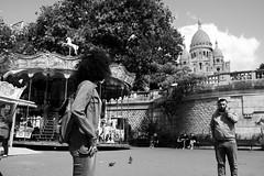 Sacre Coeur (florianramel) Tags: blackandwhite paris st streetphotography carousel montmartre sacrecoeur mange sonyslta37