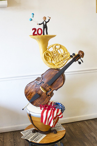 Boston Pops Anniversary Sculpted Cake
