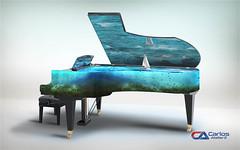 Carlos Atelier2 Pianomar (Carlos Atelier2) Tags: carlos atelier2 piano mar azul surreal design manipulação photoshop