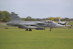 39274 (Rob390029) Tags: swedish air force saab sf39 jas39 gripen plane jet aircraft military aviation raf leeming north yorkshire egxe 274 39274