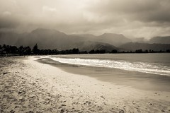 Copy of Kauai b&w48 (chiarina2016) Tags: kauai hawaii island beach monotone blackandwhite chiarinaloggia stormyseas waves trails hiking surf hanalei hanaleibeach sea ocean