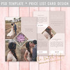 Layered Photoshop Template (daphnepopuliers) Tags: psd photoshop adobe template layered card photocard cardtemplate pricelist photostudio photography photographer marketing business