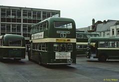 4 SVOC Newport Bus Station July71 (Copy) (focus- transport) Tags: isleofwight iow steamship londonundergroundtube tubetrain southernvectis vectis fountaincoaches buses coaches opentoppers bristol k mw re vr sul easterncoachworks ecw marshall ld lodekka lh lhs bedford ymt ymq duple plaxton sb brush nbc srn6 hovercraft national bus company ryde newport sandown shanklin yarmouth freshwater luccombe ventnor
