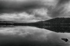 Mystical Lake (nadie_sabe) Tags: lakemapourika reflections newzealand southisland franzjosefglacier bw blackandwhite hdr dramatic bnw