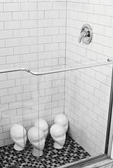 R2-023-10 (David Swift Photography Thanks for 20 million view) Tags: davidswiftphotography foamheads surreal showerstall shower 35mm ilfordxp2 nikonfm2