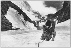 Almost to the top of Johanessburg  Couloir 1977 (Fogle Images) Tags: fogle portrait alpineclimbing johanessburgtomagicmnt northcascades wa