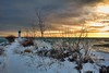 (Jolynn's Photography) Tags: landscape snow ice water lighthouse trees winter nature cold sky
