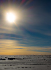 The South Pole from a distance (redfurwolf) Tags: southpole southpolestation sky sun clouds antarctica snow dessert ice redfurwolf sony rx100m4