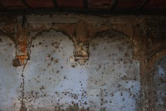 Blue courtyard wall, Old Delhi (NovemberAlex) Tags: colour india delhi texture urban heritage
