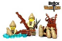 Jan 2017 - WW2 British Commando (BrickWarriors - Ryan) Tags: brickwarriors custom lego minifigure weapons helmets armor guns ww2 rifle commando carbine harpoon oxygen tank diver cap knife dagger military world war