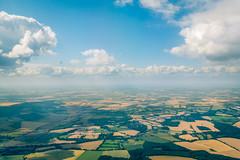 Flying High (Bobby Thompson09) Tags: ciel sky plane avion france above dessus flying fly voler vol landscape flight land cloud deep field view paysage