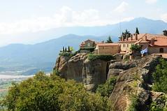 Monastery in the Sky. (john a d willis) Tags: greece kalampaka meteora monastery agiosstephanos worldheritagesite unesco rockpillars sandstone