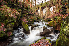 Fairies Chapel (Explored) (Sandy Sharples) Tags: waterfall river woodland rochdale lancashire nature reserve bridge viaduct fairytale dell sanctuary england
