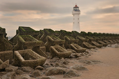 Perch Rock lighthouse (PentlandPirate of the North) Tags: wirral newbrighton perchrocklighthouse mersey liverpool breakwater
