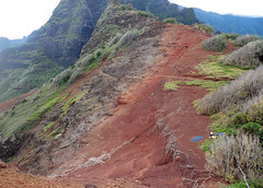 Kalalau Trail across the Red Hill. (lihue1946) Tags: redhill red kalalautrail kalalau trail napalicoast na pali coast camping kauai hawaii