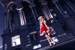 Flandre Scarlet (bdrc) Tags: asdgraphy sorluiiyann flandre scarlet touhou project cosplay portrait girl vampire sister plushie bear night flash strobe putrajaya palace justice sony a6000 tokina 1116 ultrawide game doujin acg