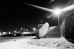 Light is the Night - Ночь светла (Valery Parshin) Tags: russia saintpetersburg stpetersburg ingermanland vasilyevskyisland valeryparshin canoneos600d canonefs1018mmf4556isstm night light river blackandwhite bridge winter
