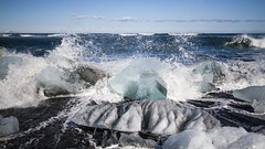 Spring In Iceland (Julien Ratel ( Jll Jnsson )) Tags: blue beach nature canon iceland spring awakening may wave mai destination popular wandering sland icebergs islande canon1022 jkulsarlon eos7d blueju38 julienratel julienratelphotography blueju destinationislande