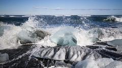 Spring In Iceland (Julien Ratel ( Júllí Jónsson )) Tags: blue beach nature canon iceland spring awakening may wave mai destination popular wandering ísland icebergs islande canon1022 jökulsarlon eos7d blueju38 julienratel julienratelphotography blueju destinationislande