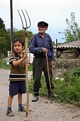 Proud grandfather (Lilit Karap) Tags: village grandson grandchild armenia granfather