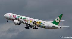 EVA AIR [CDG] (Orekaman / XGphotos95) Tags: plane airplane airport aircraft aeroport jumbojet avion cdg evaair boeing777 lfpg aviondeligne grosporteur