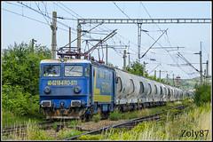 40-0218-4 (Zoly060-DA) Tags: blue white green lines yellow electric train private sweden outdoor 4 cement romania license rails co locomotive 40 5100 freight operator railcars kw cluj napoca craiova gfr asea 0218 electroputere servtrans