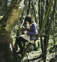 My singing Coraline (love monkey photography) Tags: music tree beautiful happy ukulele coran