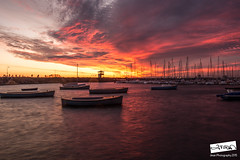 IMG_2343 (Jman Ngai) Tags: longexposure sunset sea seascape st canon landscape boats pier pod gorilla oz magic australia melbourne full hour frame vic aus ef f4 kilda 6d 1740l