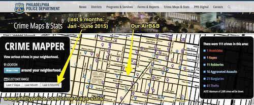 Crime Map in Philadelphia: Air B&B by Wesley Fryer, on Flickr