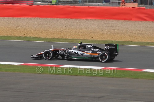 Sergio Perez in the 2015 British Grand Prix at Silverstone