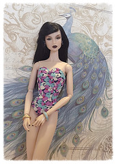 Fashion Royalty Lilith (oasis2609) Tags: blue portrait beach face fashion club toys nu peacock elements convention surprise eden swimsuit period royalty lilith integrity