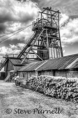 The Colliery 4 mono (Steve Purnell Photography) Tags: industry museum southwales wales buildings unitedkingdom structure coal gwent coalmine colliery bigpit coalmining blaenavon coalminingindustry pithead nationalmuseumofwales windinggear pwllmawr amgueddfalofaolgenedlaethol thecolliery welshminingindustry