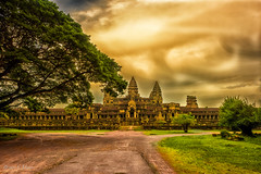storm over Angkor Wat