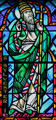 Pope Saint Sylvester (Lawrence OP) Tags: pope cathedral baltimore stainedglass sylvester saints