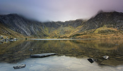 52 - 1 'Idwal Dawn' (RHughes5) Tags: landscape 52 week challenge new year reflection lake water wales mountains colour colours clouds long exposure cwm glacial rocks nikon d5500 explore explored