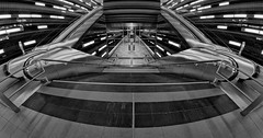 Underground Station Überseequartier No.2 [Explored 2016-12-10] (T.Seifer) Tags: architektur architecture blackandwhite bw blackwhite d700 fx fisheye hamburg hafencity nikon monochrome photography schwarzweis ubahn underground subway whiteandblack whiteblack weisschwarz weitwinkel walimex greatphotographers flickr elite group